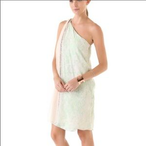 DVF pastel snake print dress